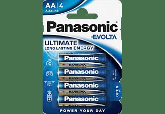 PANASONIC LR6EGE/4BP Evolta AA Mignon Batterie, Alkaline, 1.5 Volt