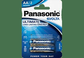 PANASONIC LR6EGE/2BP Evolta AA Mignon Batterie, Alkaline, 1.5 Volt