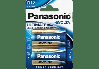 PANASONIC LR20EGE/2BP Evolta D Batterie, Alkaline, 1.5 Volt