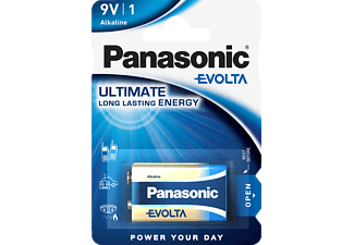 PANASONIC 6LR61EGE/1BP Evolta 9 Volt Batterie, Alkaline, 9 Volt