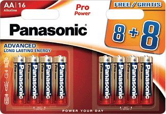PANASONIC LR6PPG/8BW AA Mignon Batterie, Alkaline