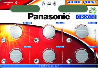 PANASONIC CR2032EL/6BP CR2032 Knopfzelle, Li-Ion, 3 Volt
