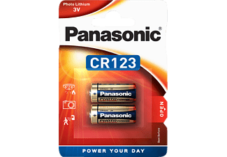 PANASONIC 2B222572 CR123A Batterie, Li-Ion, 3 Volt