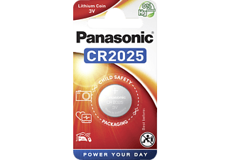PANASONIC 2B370597 CR2025L/1BP CR2025 Knopfzelle, Lithium, 3 Volt