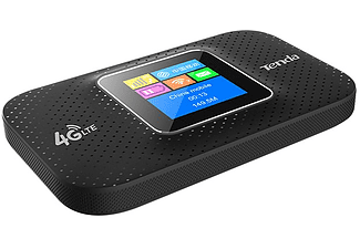 Router inalámbrico - Tenda 4G185, Para móviles, 150 Mbps, 2100 mAh, Negro