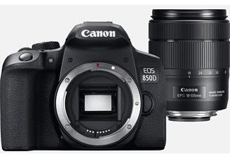 Cámara réflex - Canon EOS 850D, 24.1 MP, 25 fps 4K, WiFi, 18-135 mm, Negro