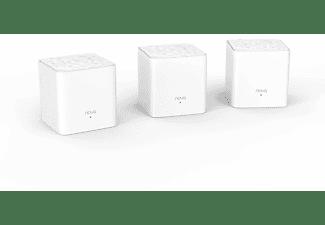 Sistema Wi-Fi - Tenda Nova MW3 Sistema WiFi Mesh Dual Band AC1200, Kit 3 Unidades, 300 m2, Blanco