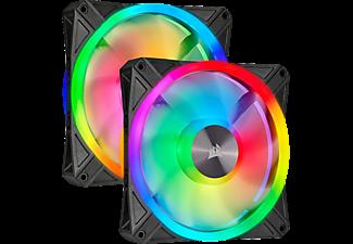 CORSAIR iCUE QL140 RGB 2er-Pack Gehäuselüfter, Mehrfarbig