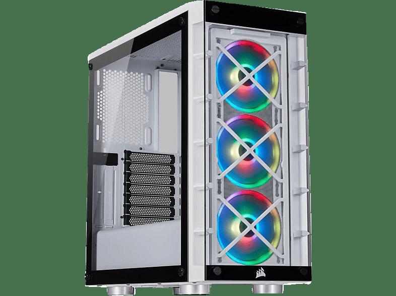 CORSAIR iCUE 465X RGB PC Gehäuse, Weiss