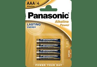 PANASONIC LR03APB/4BP AAA Micro Batterie, Alkaline, 1.5 Volt 4 Stück