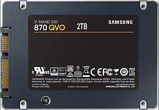 SAMSUNG 870 QVO Festplatte Retail, 2 TB SSD SATA 6 Gbps, 2,5 Zoll, intern