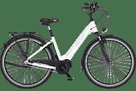 FISCHER CITA 3.1I-S2 Citybike (28 Zoll, 44 cm, 418 Wh, Weiß matt)