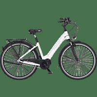 FISCHER CITA 3.1I-S2 Citybike (28 Zoll, Rahmenhöhe: 28 Zoll, Unisex-Rad, 418 Wh, Weiß matt)