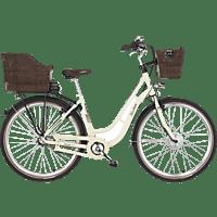 FISCHER ER 1804-S1 Citybike (Laufradgröße: 28 Zoll, Unisex-Rad, 317 Wh, Beige)