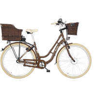 FISCHER ER 1804-S2 Citybike (28 Zoll, Rahmenhöhe: 28 Zoll, Unisex-Rad, 317 Wh, Braun)