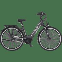 FISCHER CITA 5.0I-S1 Citybike (28 Zoll, Rahmenhöhe: 28 Zoll, Unisex-Rad, 418 Wh, Grau matt)