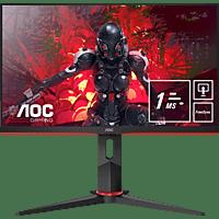 AOC 24G2U5/BK 23,8 Zoll Full-HD ultraschmaler Rahmen, 75 hz Bildwiederholrate, FreeSync Technologie, VESA-Halterung (1 ms Reaktionszeit, 75 Hz)