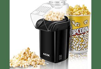 Palomitero - Aicok MYB001 Pop Corn, 1200W, Listas en 3 minutos, Sistema por aire caliente, Negro