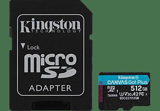 KINGSTON Canvas Go! Plus, T-Flash, Micro-SD Speicherkarte, 512 GB