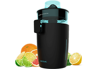 Exprimidor - Cecotec Zitrus TowerAdjust Easy, Eléctrico, 2 Filtros, 0.5l, 350W, 2 conos, Negro