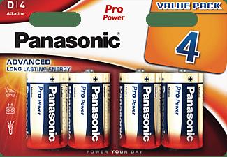 PANASONIC LR20PPG/4BW LR20 Batterien, Alkaline, 1.5 Volt 4 Stück