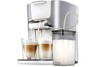 PHILIPS Senseo Kaffeepadmaschine HD6574/20 Latte Duo Plus, silber