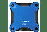 Disco duro externo -  Adata SD600Q SSD, 480 GB, USB 3.0, Azul