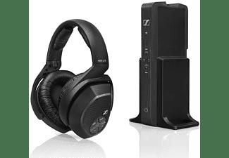 Auriculares inalámbricos - Sennheiser RS 175, Transmisión digital, Autonomía 18 h, Micrófono, Controles, Negro