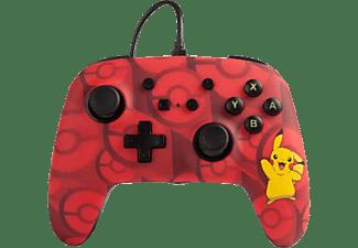 POWER A Pokémon Erweiterter kabelgebundener Controller für Nintendo Switch - Pikachu Controller} Rot