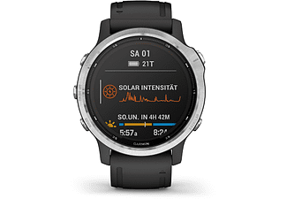 GARMIN Smartwatch Fenix 6S Solar, Silber/Schwarz (010-02409-00)