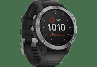 GARMIN Smartwatch Fenix 6 Solar, Silber/Schwarz (010-02410-00)