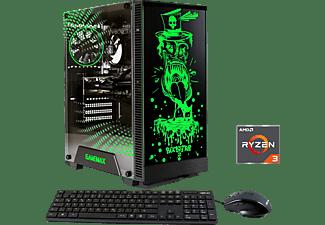 HYRICAN GAMEMAX ROCKSTAR 6544, Gaming PC mit Ryzen 3 Prozessor, 8 GB RAM, 480 GB SSD, Radeon RX 550, 4 GB
