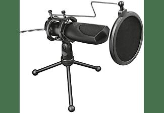 Micrófono - Trust GXT 232 Mantis Streaming, Con trípode, USB, PC PS4, -38 dB, Negro