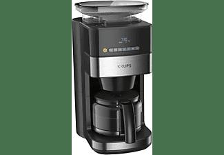KRUPS KM8328 Grind Aroma Kaffeemaschine Schwarz/Silber