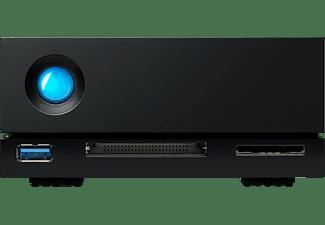 LACIE 1big Dock Festplatte, 8 TB HDD, extern, Schwarz