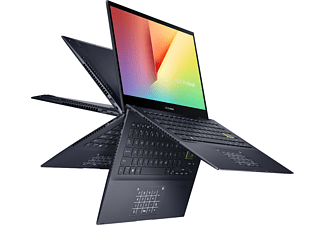 ASUS VivoBook Flip 14 TM420IA-EC071T, Convertible mit 14 Zoll Display, Ryzen™ 5 Prozessor, 8 GB RAM, 512 GB SSD, AMD Radeon™ Grafik, Bespoke Black
