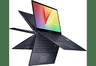 ASUS VivoBook Flip 14 TM420IA-EC070T, Convertible mit 14 Zoll Display, Ryzen 7 Prozessor, 16 GB RAM, 512 GB SSD, AMD Radeon™ Grafik, Bespoke Black