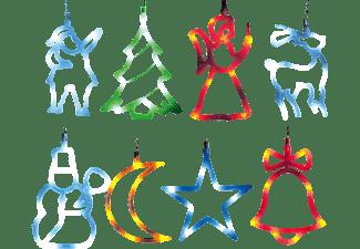 GRUNDIG Weihnachtseinhänger Dekobeleuchtung, Bunt, Mehrfarbig