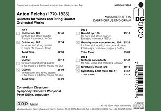 Consortium Classicum/Bieler/Gü - REICHA: QUINTETS/STRING 4TET  - (CD)