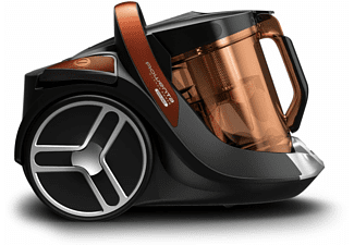 Aspirador sin bolsa - Rowenta Silence Force Cyclonic, 550 W, 2.5 l, Radio 8.8 m, Naranja y negro