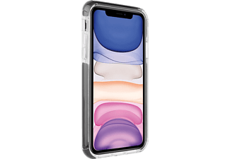 VIVANCO Rock Solid, Backcover, Apple, iPhone 11, Transparent/Schwarz