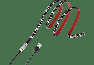 HAMA USB-LED-Leuchtband mit integrierter Bedieneinheit, RGB, 1m