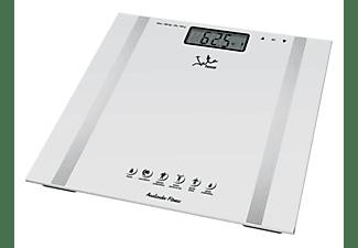 Báscula analizador de fitness - WC Scale Jata 532, LCD, 12 Memorias, 150 kg, Blanco