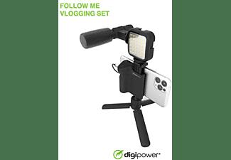DIGIPOWER DPS-VLG4 4-TEILIGES Vlogging Set Schwarz