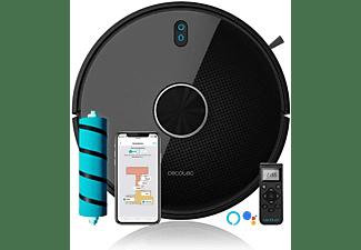 Robot aspirador - Cecotec Conga 4490, 14.8 V, 570 ml, 300 minutos, 64 dB, Control voz Alexa y Google Assistant