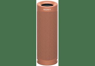 Altavoz inalámbrico - Sony SRSXB23R, Bluetooth, Extra Bass, Autonomía 12h, Resiste agua y polvo, IP67, Coral