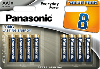 PANASONIC Everyday Power AA ceruza 1.5V szupertartós alkáli elemcsomag 8db (LR6EPS/8BW)