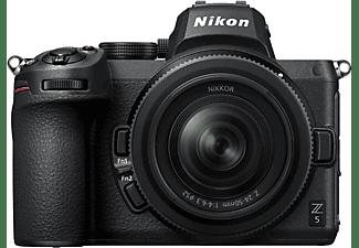 NIKON Z5 Kit + FTZ Adapter Systemkamera mit Objektiv 24-40 mm, 8 cm Display Touchscreen, WLAN