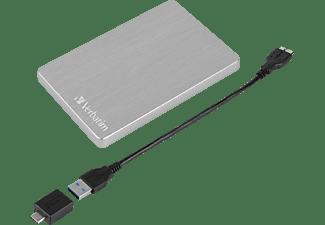 "VERBATIM Store n Go 2.5"" ALU 1TB USB 3.2 Gen 1  Festplatte, 1 TB HDD, 2,5 Zoll, extern, Silber"