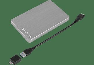 "VERBATIM Store n Go 2.5"" ALU 1TB USB 3.2 Gen 1  Festplatte, 1 TB HDD, 2,5 Zoll, extern, Grau"